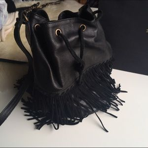 Leather & Suede Bucket Bag