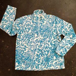 Laura Scott Jackets & Blazers - Laura Scott Pullover Fleece NWOT ¾ Zipper size L