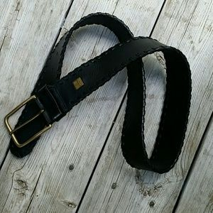 Ralph Lauren Accessories - Ralph Lauren Vintage Black Leather Belt EUC