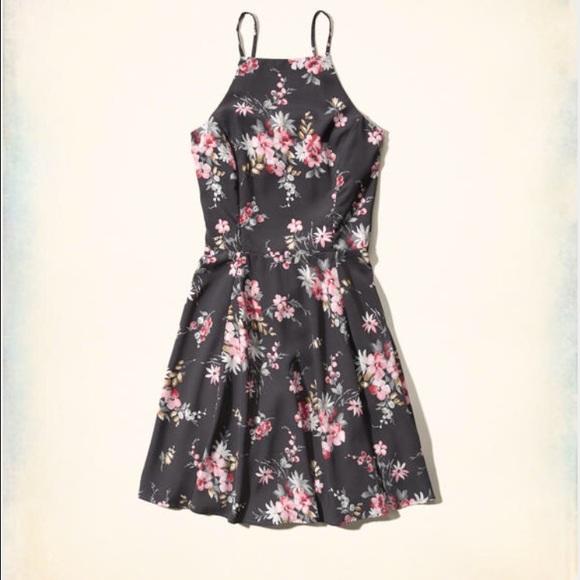 Hollister Dresses Greyfloral Sun Dress Poshmark