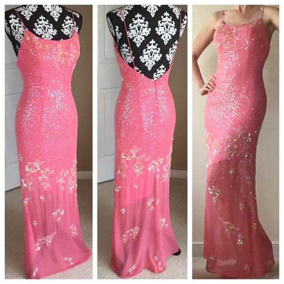 La Gala by Mon Cheri pink pageant dress size 8