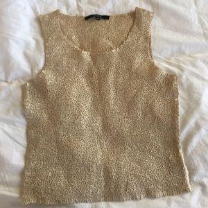 Vintage 90's Crinkle Crop Top Issey Miyake