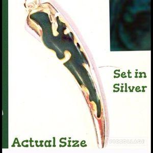 Boutique Jewelry - Malachite Marbled Green & Blue & Black Pendant