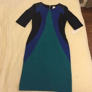 Julia Jordan color block sheath dress