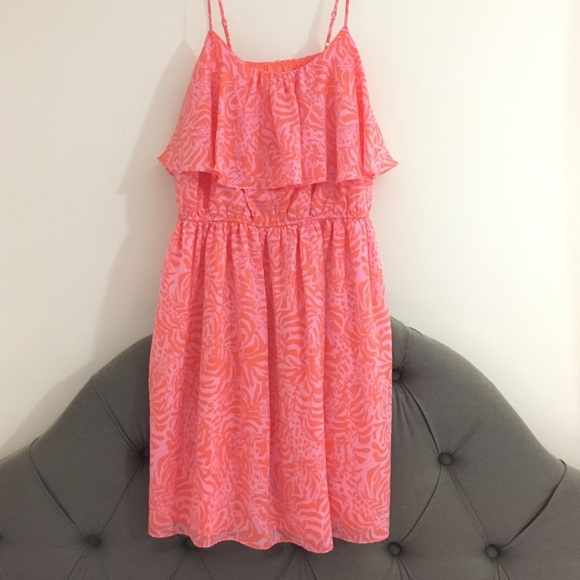 Orange And Pink Lilly Pulitzer Plus Size Dress 1X