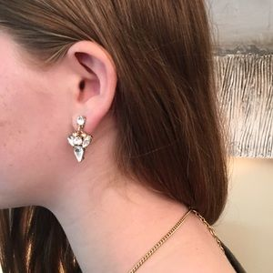 J. Crew Crystal Drop Earrings