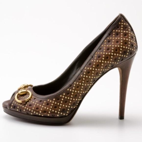 86b6cf7d58c Gucci Shoes - Gucci Peep Toe Pump