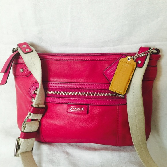 Coach - SALECoach Hot Pink Leather Crossbody Bag from ...