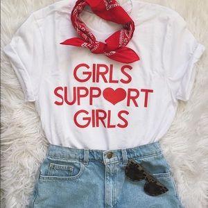 Tops - Girls Support Girls Pink Shirt