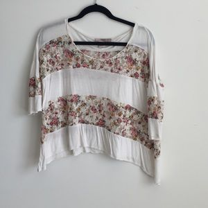 Forever 21 Floral Lace Top - XS