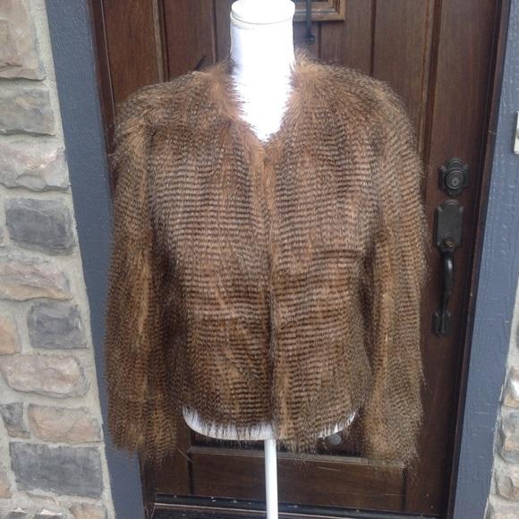 Yoki Jackets Amp Coats Faux Fur Jacket Size Medium Poshmark