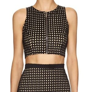 Whitney Eve Tops - Whitney Eve perforated crop top