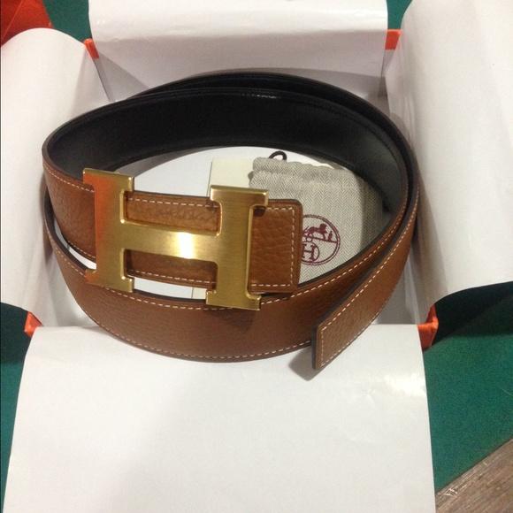 c1a8ff8c7d Hermes Accessories - Hermes H Buckle Constance reversible brown belt 95
