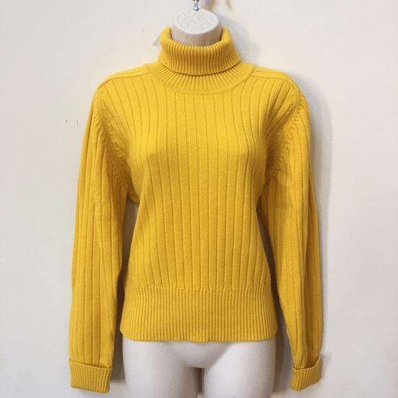 Liz Claiborne Sweaters Mustard Yellow Turtleneck Sweater Poshmark