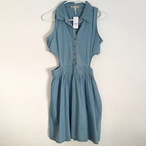 Dresses & Skirts - Denim Cut out dress