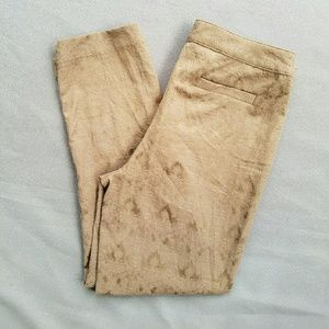 Ellen Tracy Pants - Ellen Tracy Lace Print Pattern Cropped Pant