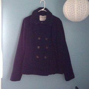 Classic Aeropostale Juniors Navy Wool Peacoat