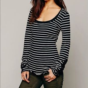 Free People Tops - Free People Hard Candy Striped Henley