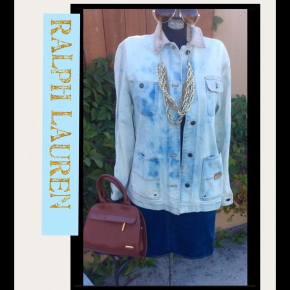 fa324c52f9 Ralph Lauren Jeans Safari denim jacket sz ps. M 58e2e0ed56b2d636120218a9