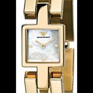 Emporio Armani Accessories - Emporio Armani Classic Gold Ladies Watch.