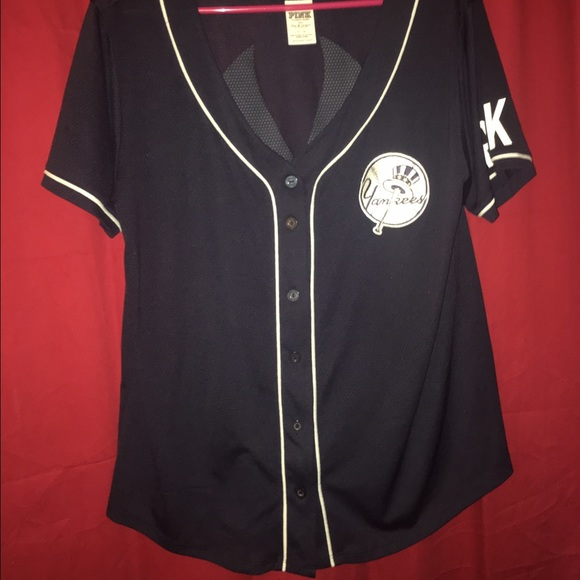 4bd85fe282 PINK New York Yankees Jersey. M 57be34ce36d594badc0055a8