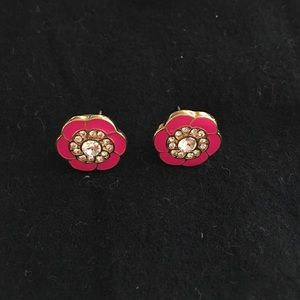 Vera Bradley enamel and crystal earrings