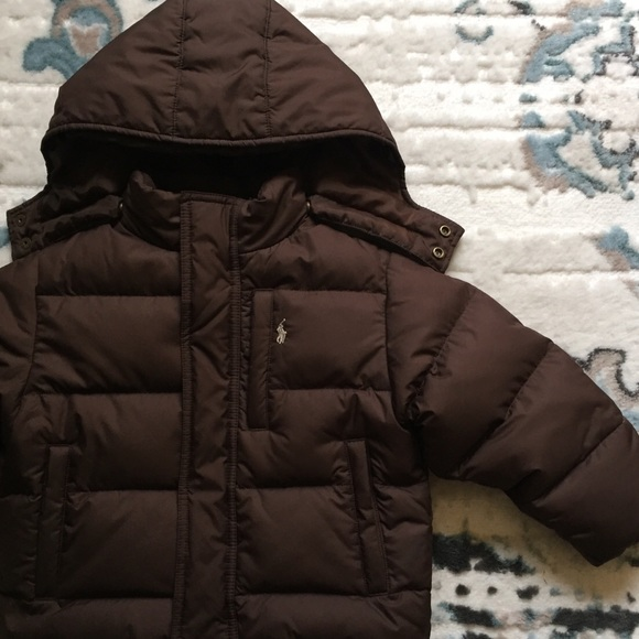 2b9d4ed7a Ralph Lauren Jackets & Coats | Boys Polo Brown Puffer Down Jacket 2t ...
