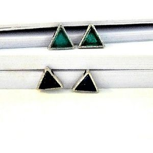 Alicia Jean Jewelry - Petite Gemstone/Sterling Silver Studs -  2  styles