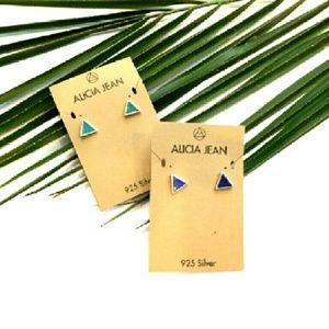 Alicia Jean Jewelry - Petite Gemstone/Sterling Silver Studs -  2  styles