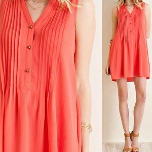 ‼️LAST ONE‼️Pin Tuck Detail Shirt Dress & Pockets