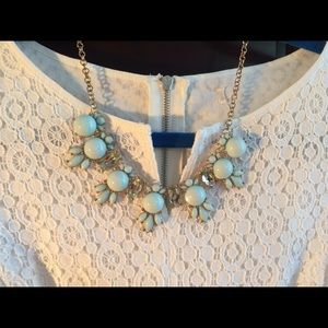 Teal and Gold Statement necklace