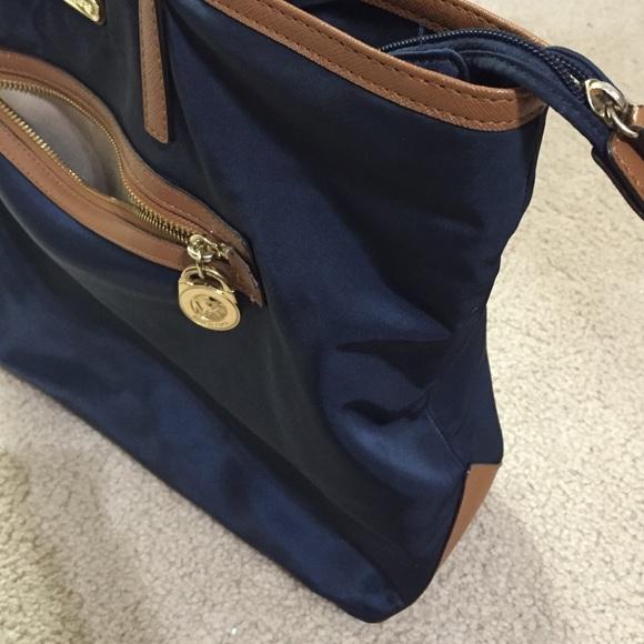 Michael Kors - Michael Kors nylon navy blue and brown bag from ...