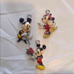 3 NEW Mickey & Minnie Mouse Pendants**