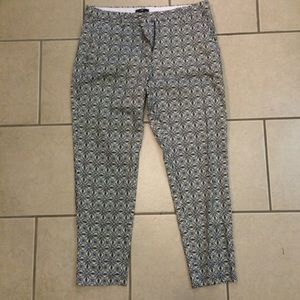 H&M Pants - H&M medallion blue and black ankle pants. Size 10