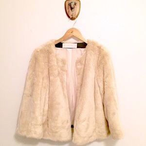 Zara FAUX Fur Coat w/ Flared Sleeves