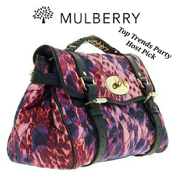 809b6e02c360 Authentic Mulberry Alexa Quilted Denim Satchel. M 57d5504713302abb79034f52