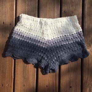 Zara Crochet Ombre Shorts