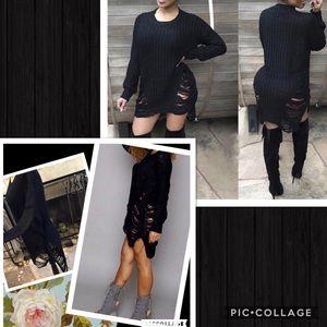 Gypsi's Dresses & Skirts - Distressed sweater dress
