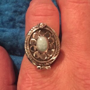"""Jewelry - Sterling Silver Larimar """"POISON"""" Ring Size 9"""
