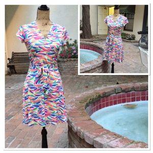 Leota Dresses & Skirts - Leota Cap Sleeve Mini Wrap Dress