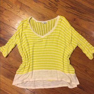 Splendid Oversized Knit Stripe Pullover Sweater
