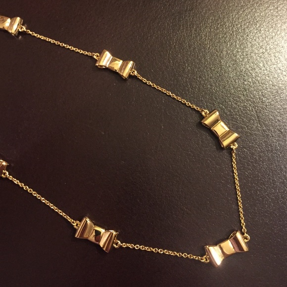 Kate Spade Pearl Bow Necklace: Kate Spade Gold Bow Necklace