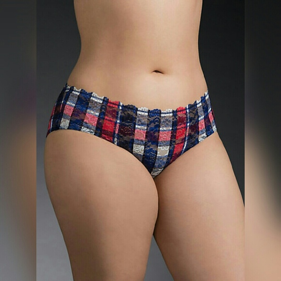 bbcf3d2b2 Plaid Cage Back Lace Hipster Panty