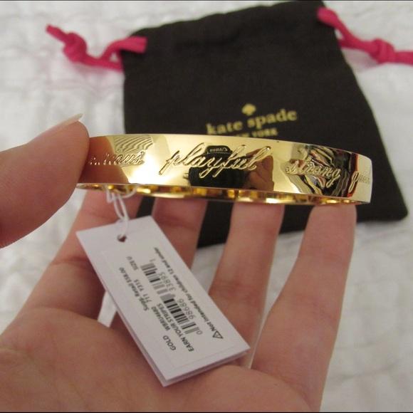 01bfa53cef979 Kate Spade 'Heart of Gold' bangle NWT