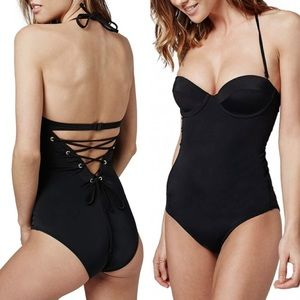 Topshop Other - Topshop Lace-Up Swimsuit