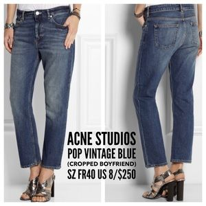 Acne Denim - Acne Studios👖Pop Blue Vintage Cropped BF Jeans