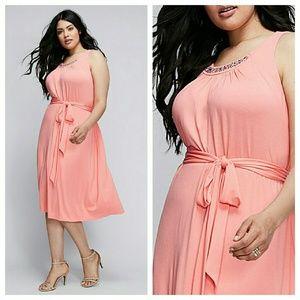 Lane Bryant Dresses & Skirts - EMBELLISHED TANK DRESS 2x 18 20 xxl belted