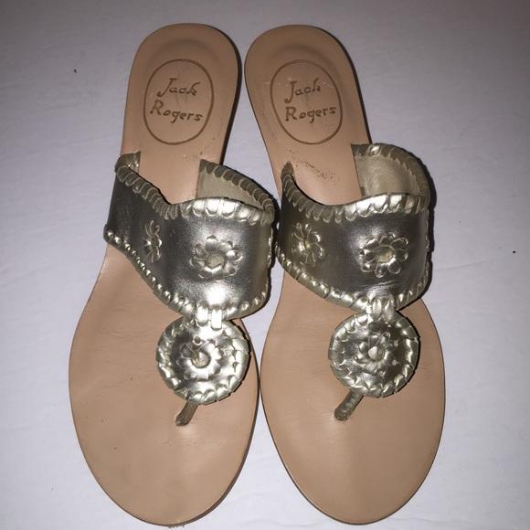 f6e82484cc1dff Jack Rogers Shoes - Jack Rogers Platinum Navajo Capri Wedge Sandal 6.5