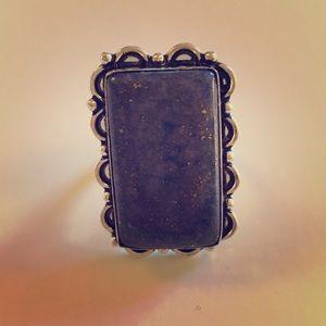 Gorgeous Sterling Lapis Lazuli Ring NEW