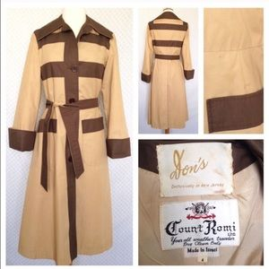 Jackets & Blazers - Audrey Hepburn Vintage Two Tone Trench Coat